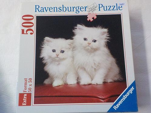 Couple de chats persans blancs Ravensburger 152155 Casse-Tête 500 morceaux