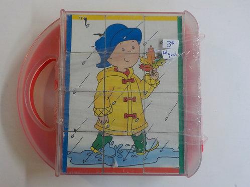 Caillou + 2 scènes à colorier Casse-tête 12 cubes