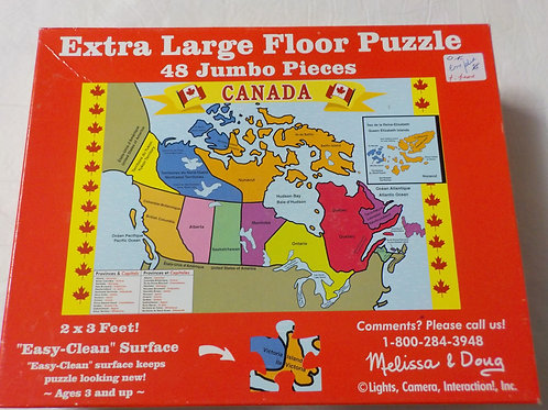 Carte du Canada Melissa et Doug Casse-tête de plancher 48 morceaux