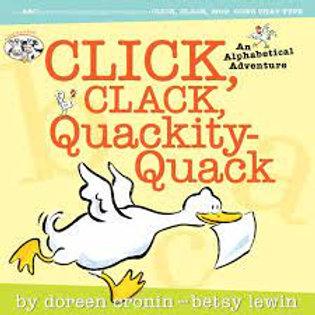 CRONIN LEWIN Click, clack, quackity-quack 9780689877155 2005
