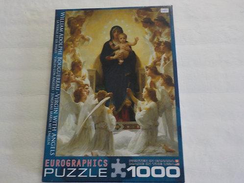 BOUGUEREAU : La vierge et les anges Eurographics Casse-tête 1000 morceaux