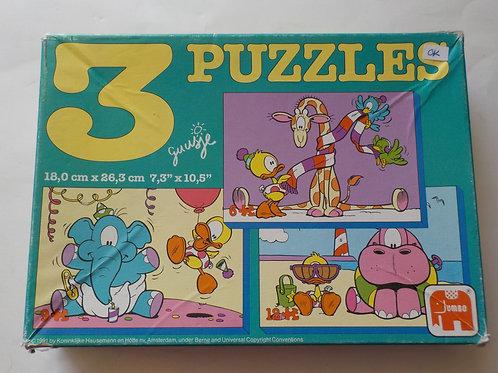 3 Puzzles Jumbo Casse-têtes 6-9-12  morceaux