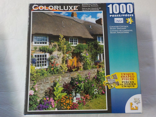 Cottage de campagne, Selsey, Angleterre Colorluxe Casse-tête 1000 morceaux
