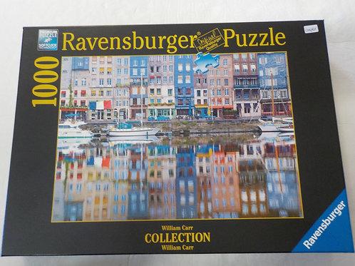 CARR, W: Reflets port de Honfleur Casse-tête 198672  Ravensburger 1000 morceaux
