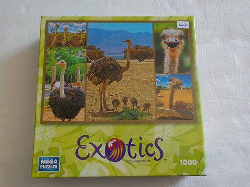Autruche Exotics Mega Puzzles  Casse-tête 1000 morceaux