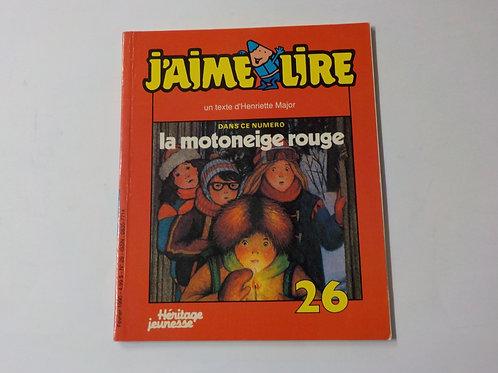 J'aime lire: La motoneige rouge Février 1990 No.26