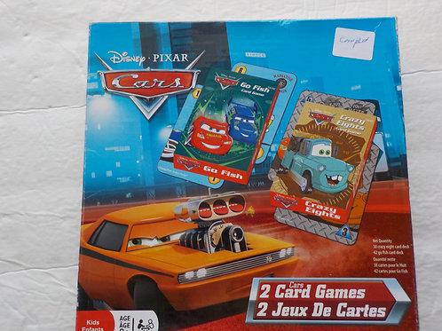 2 jeux de cartes Cars: Go Fish Crazy Eights Jeux pour 3 ans et +