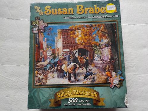 BRABEAU, Susan: Village Blacksmith Karmin  Casse-tête 500 morceaux