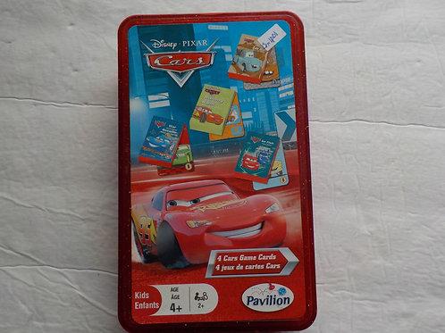 4 jeux de cartes Cars Jeux 4 ans et +