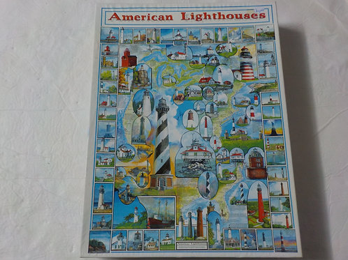 American Lighthouses Casse-tête White Mountain 1000 morceaux