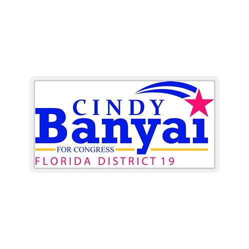Cindy Banyai for Congress Kiss-Cut Stickers