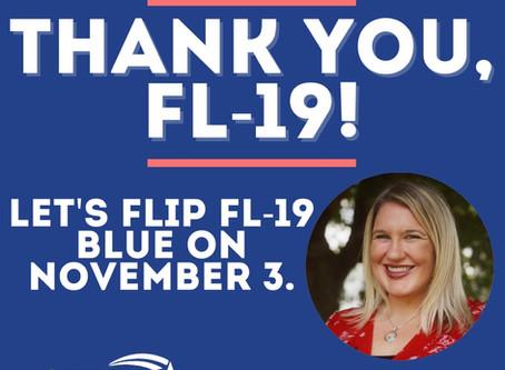 Dr. Cindy Banyai wins Democratic Nomination in FL-19 Congressional race
