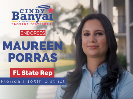 Maureen Porras and Cindy Banyai endorse each other for office
