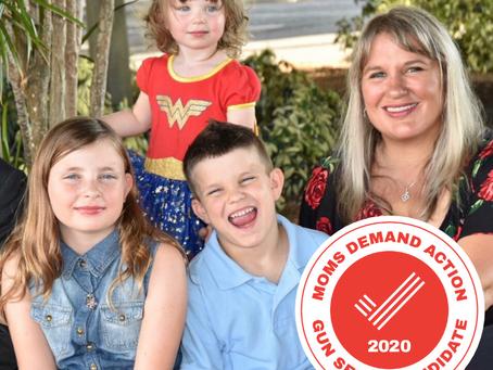 Dr. Cindy Banyai (FL-19) awarded 2020 Moms Demand Action Gun Sense Candidate Distinction