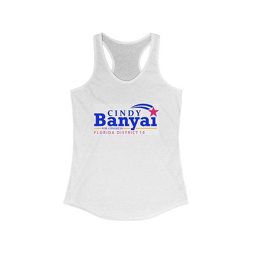 Cindy Banyai for Congress Women's Ideal Racerback Tank