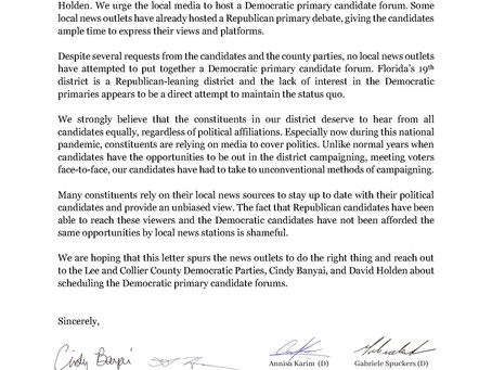 Local Democrats on media sources to host democratic primary candidate forum