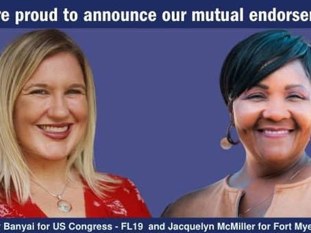 Jacquelyn McMiller and Cindy Banyai Endorse Each Other for Office