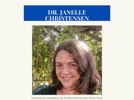 Dr. Janelle Christensen announces candidacy for Florida Democratic Party Chair