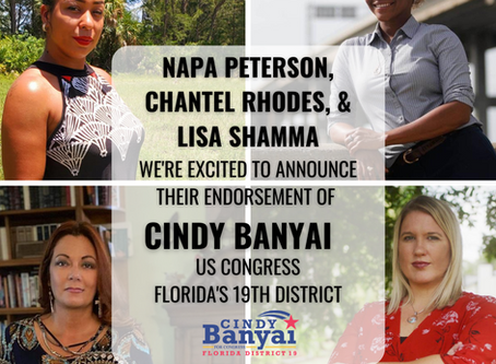 Congressional Candidate Cindy Banyai endorsed by Leaders of Peaceful Protests Lee County