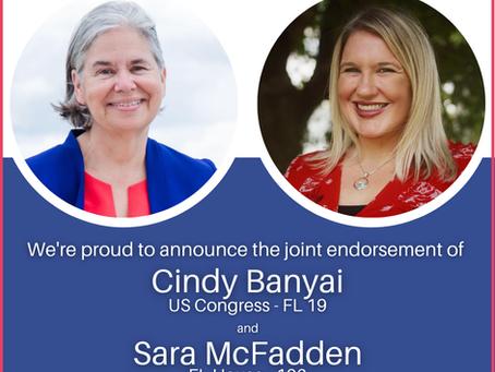 Cindy Banyai and Sara McFadden Endorse Each Other for Office