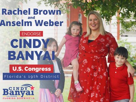 Rachel Brown, Anselm Weber, and Cindy Banyai endorse each other for office