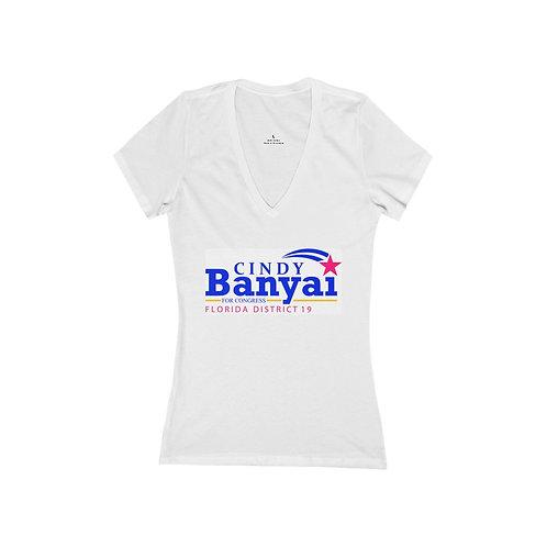 Cindy Banyai for Congress Ladies V-Neck Tee