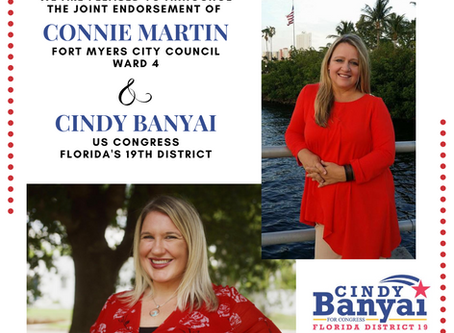 Cindy Banyai and Connie Bennett-Martin endorse each other for office