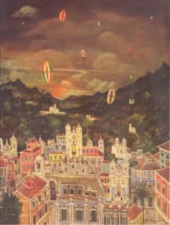 Noite de São João, 1942, 003-42, osm, 80 x 60 cm