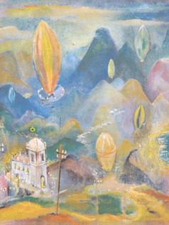 Balões, 1938, ost, 001-38, 55 X 44 cm.