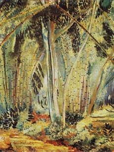 Bambus, 1937, 002-37, ost, 60 X 80 cm.