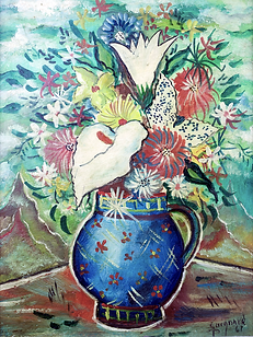 Vaso de flores, 001-61 Alberto da Veiga Guignard, osm, 30 X 23 cm.