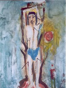 São Sebastião, 1962, 002-62 ,osm, 60 x 54 cm.