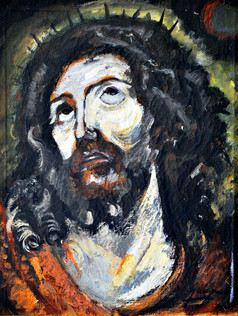 Cabeça de Cristo, década de 1930, R-063-00,ost, 40 X 33 cm.