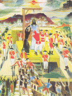 Execução de Tiradentes, 1961, 004-61, ost, 60 X 80 cm.