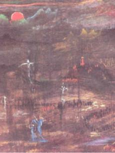 Crucificação, 1950, 001-50 , 44 X 55 cm.