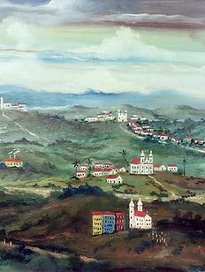 Paisagem da cidade de Sabará, 005-51, osm, 29 X 41 cm.