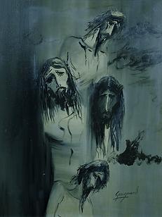 Cabeça de Cristo, Quadruplemus. 025-00, ost, 50 x 40 cm.