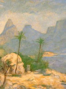 Lagoa Rodrigo de Freitas, 1929, 001-29, ost, 43 X 53 cm.