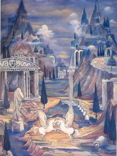Composição Surrealista, 1937,001-37,  ost, 180 X 125 cm.