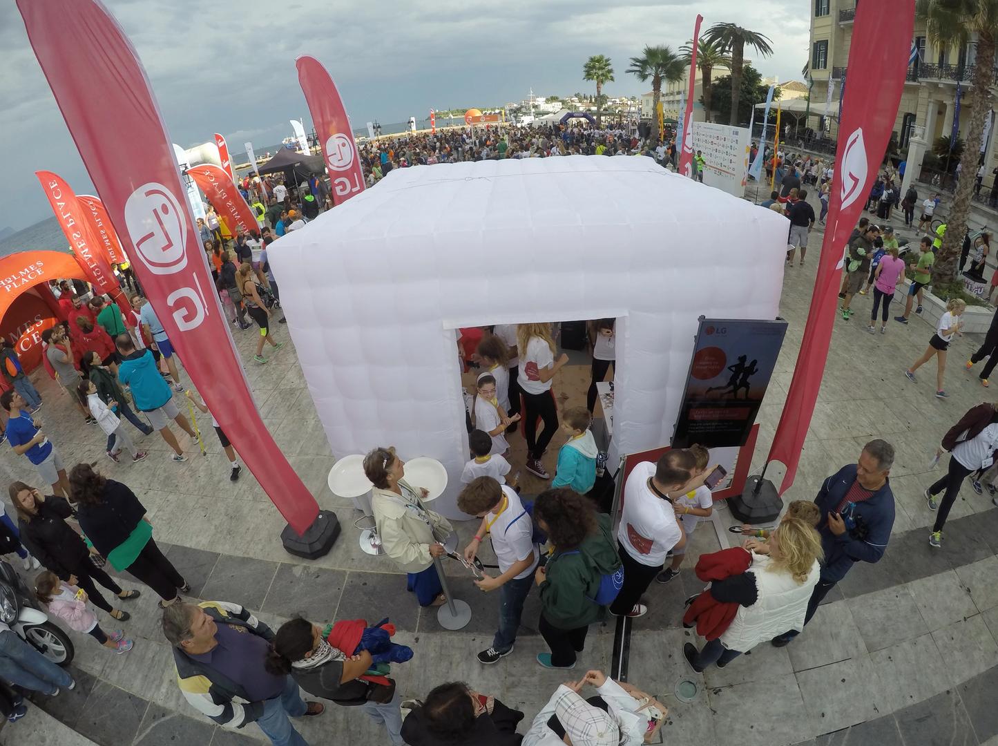 White Inflatable Kiosk