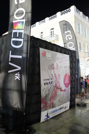 Black Inflatable Kiosk With Banner Branding