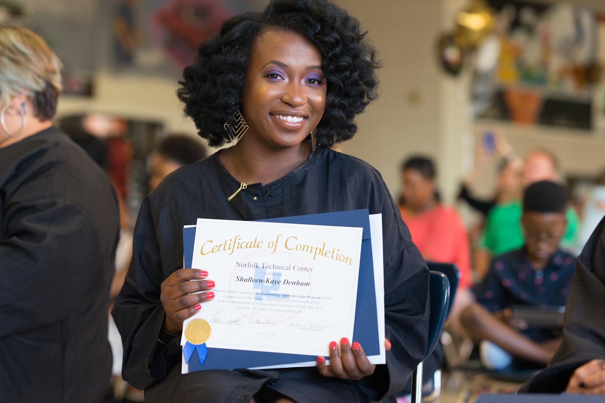 #bloggertobeautician Grad Recap