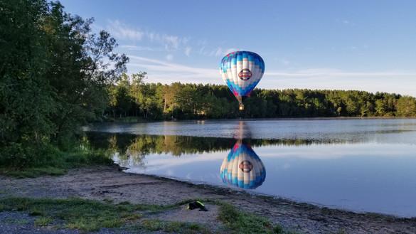 Hot Air Balloon over Silver Lake