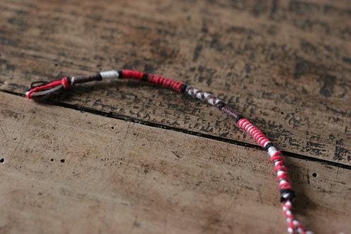 Bracelet rond rouge marron n°36