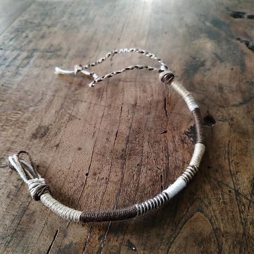 Bracelet Rond Marron Blanc n°4