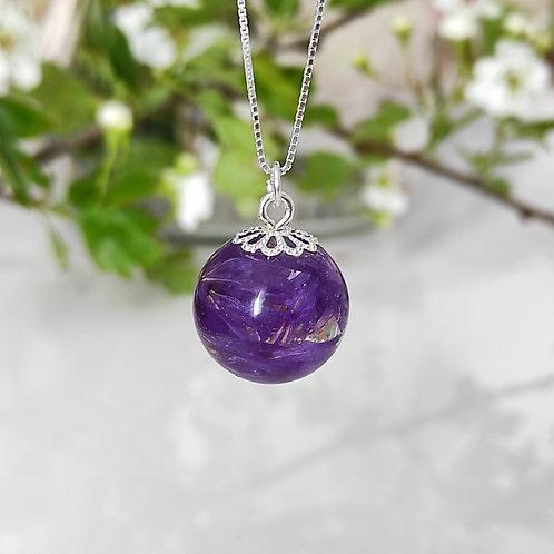 Pendentif Élégance Limonium violet