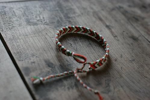 Bracelet plat Orange Vert