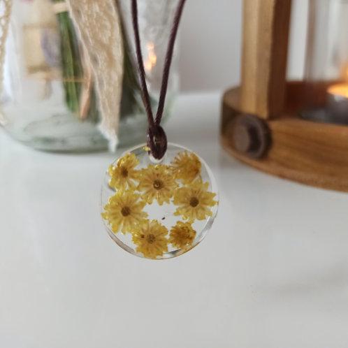 Pendentif collier Pureté fleur d'Immortelle