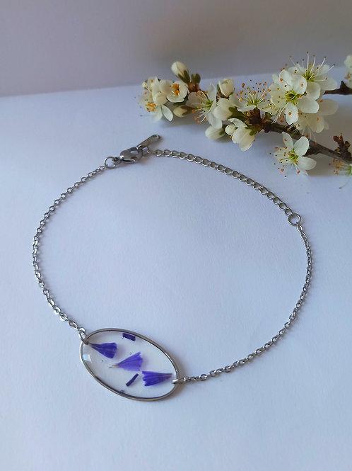 Bracelet acier inoxydable argenté Limonium