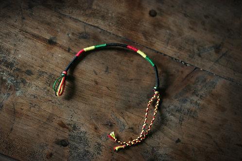 Bracelet Rond Rouge jaune vert n°10